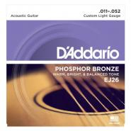 D'Addario EJ26 Acoustic Strings Custom light