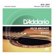 D'Addario EZ920 Acoustic Strings Medium Light