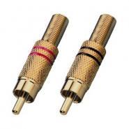 Monacor T-708GLC Cinch / RCA Stecker pro Paar