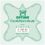 Lenzner/Optima 1001 Goldbrokat Violinsaite E1 Mittel