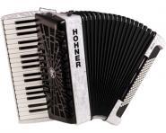 Hohner Akkordeon Bravo III 96 silent key weiß