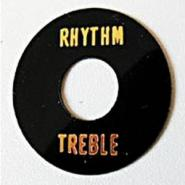 Göldo Toggle Switch Plate Treble/Rhythm black