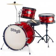 Stagg TIM JR 3/16 Junior Drumset rot
