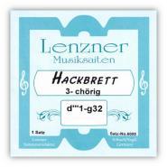 Lenzner 6000S Hackbrett 3-chörig Satz 96-saitig Silber