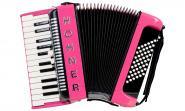 Hohner Akkordeon Bravo II 48 Design II customized Pink