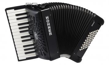 Hohner Akkordeon Bravo II 48 silent key schwarz