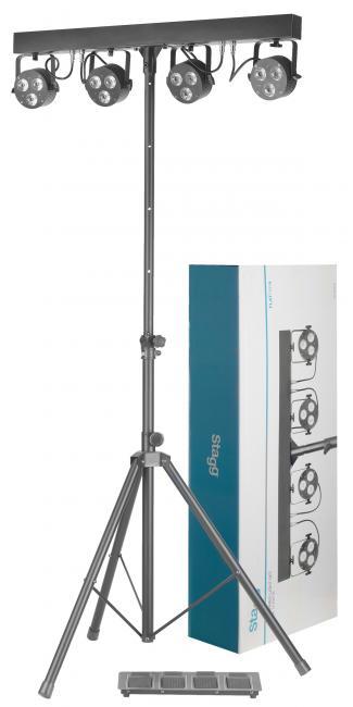 Stagg FlatPAR4 Licht-Set SLB 4P36-41-0