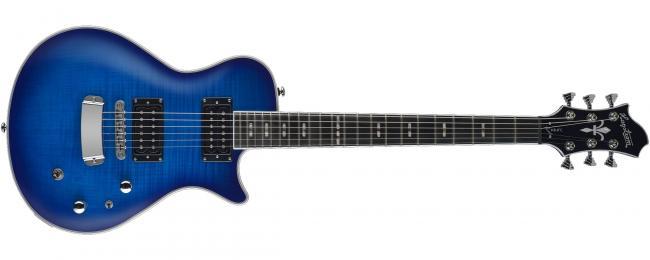 Hagstrom E-Gitarre Ultra Swede Worn Denim Burst