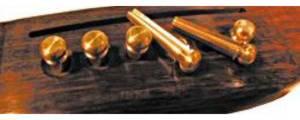 Allparts BP 0221-008 Acoustic Bridge Pin Set Brass