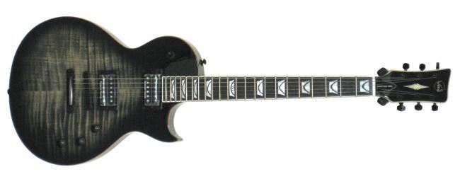 VGS E-Gitarre Eruption Pro Black Burst Faded