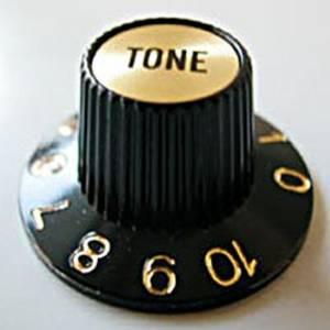 schwarz Göldo KB6TG Universal-Potiknopf gold Tone