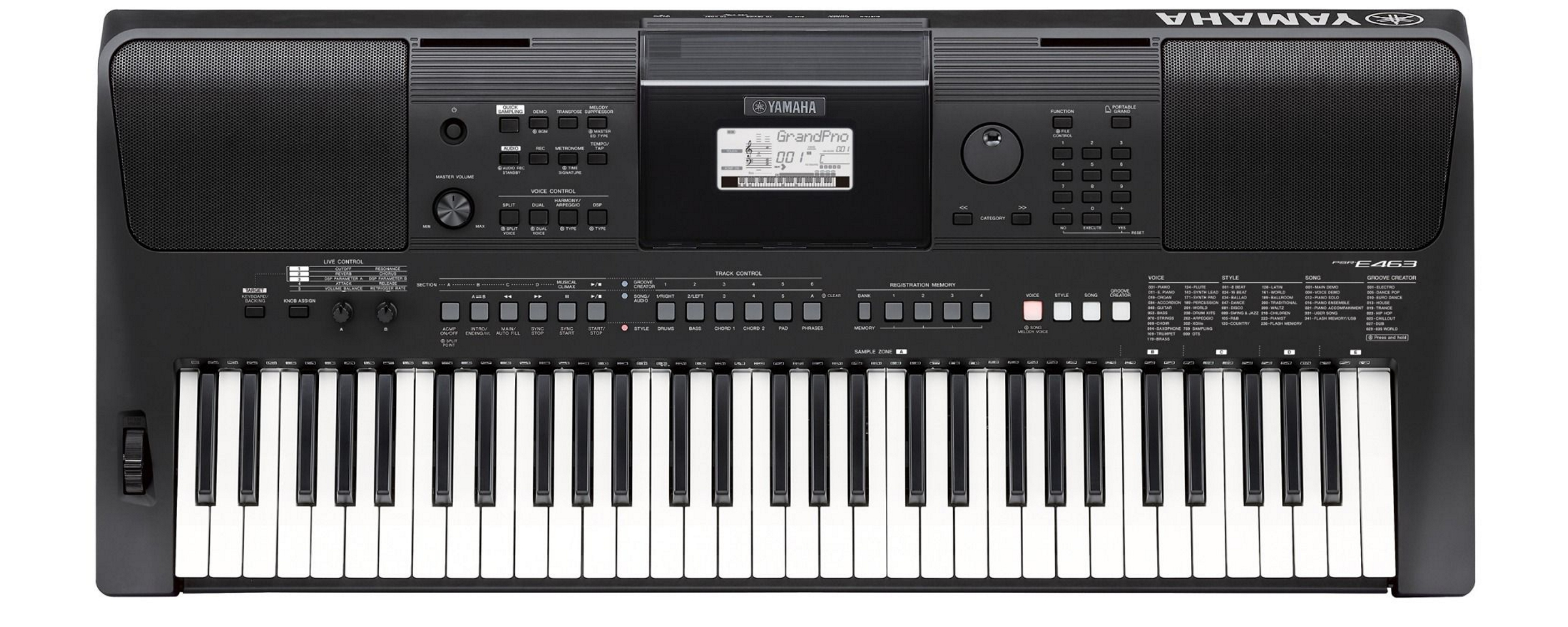 yamaha psr e453 portable keyboard ihr gro es musikfachgesch ft in nord ost bayern online kaufen. Black Bedroom Furniture Sets. Home Design Ideas