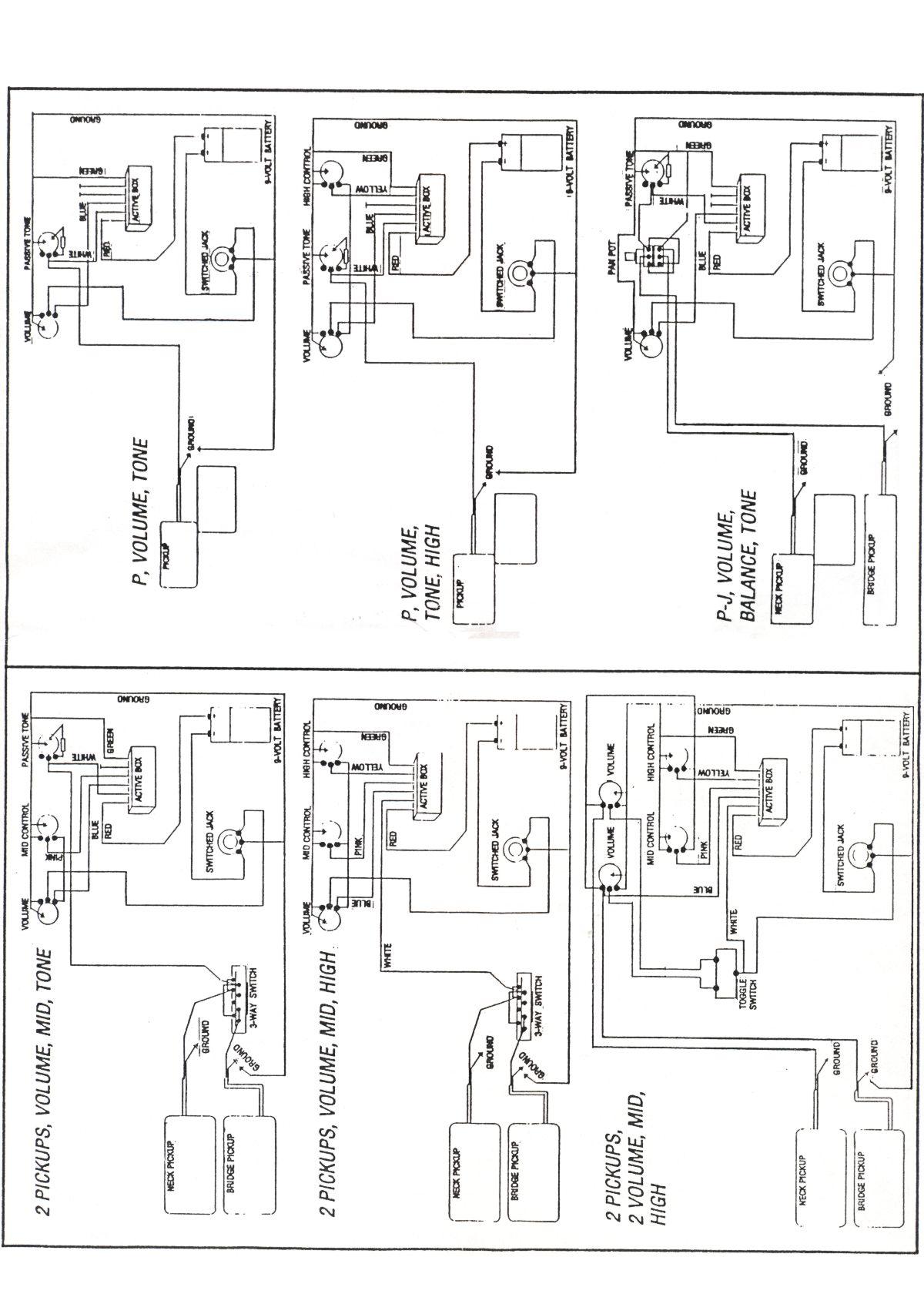 Reflex Red Aktiv Bass Pickup System Rp1 Ihr Groes 2 Pickups 3 Way Switch Produktbilder